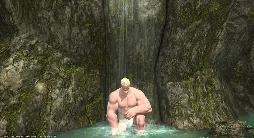 FFXIV温泉滝行