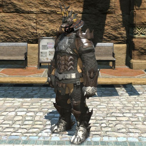 FF14降神祭の黒漆塗龍形兜