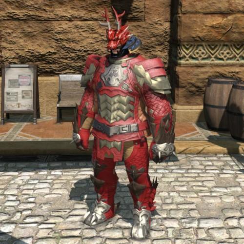 FF14降神祭の朱漆塗龍形兜