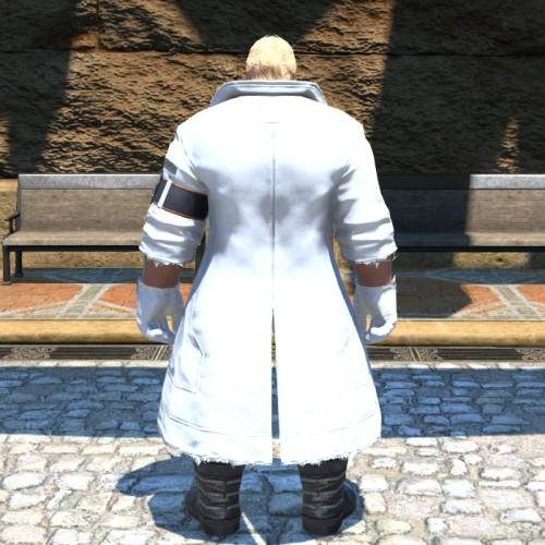 FF14シーズナルイベント『閃光の影向』:おしゃれ装備ノラコート(ピュアホワイト)ルガディン