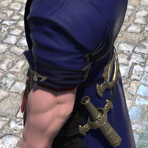 FF14ルガディンのオシャレ装備ウラエウスコート:ミッドナイトブルー