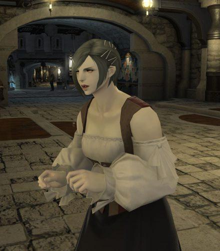 FF14ルガディン女性(ゼーヴォルフ)町娘