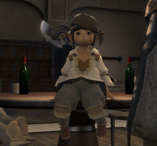 FF14ララフェル女性の斧術士